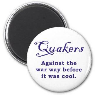 Quakers - guerra imán redondo 5 cm