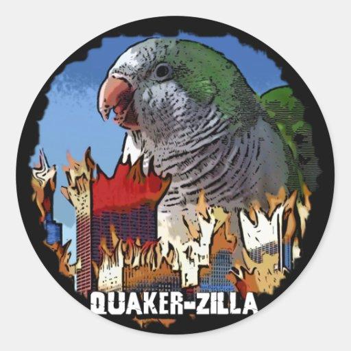 QuakerZilla Sticker