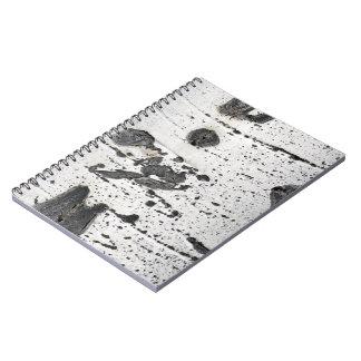 Quaking Aspen Bark Close-Up Photograph Spiral Notebook