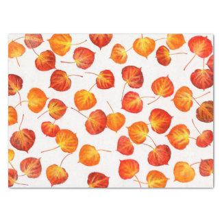 "Quaking Aspen Fall Leaf Prints 15"" X 20"" Tissue Paper"