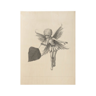 Quaking Aspen Tree Fairy with Leaf Wood Poster