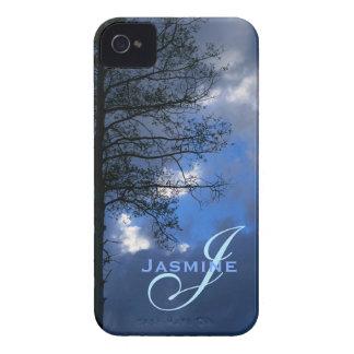 Quaking Aspen Tree Sihouette Monogram iPhone 4 Case