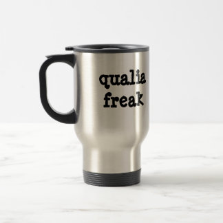 Qualia Freak steel travel mug (right-hand)
