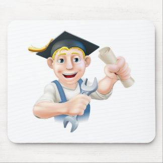 Qualified plumber or mechanic mouse pads