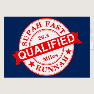 Qualified Super Fast Runner Card