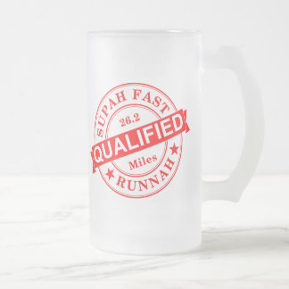 Qualified Super Fast Runner Frosted Glass Beer Mug