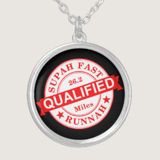 Qualified Super Fast Runner Silver Plated Necklace