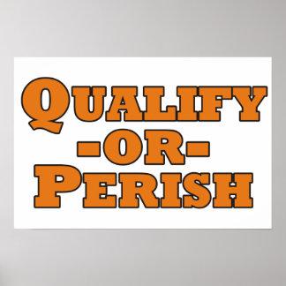Qualify or Perish Poster
