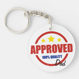 Quality Approved Dad Double-Sided Round Acrylic Keychain