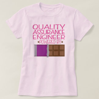Quality Assurance Engineer Chocolate Gift for Her T-Shirt