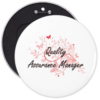 Quality Assurance Manager Artistic Job Design with Pinback Button