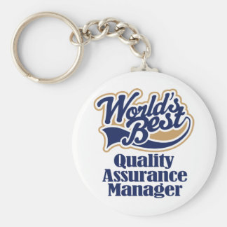 Quality Assurance Manager Gift Keychain