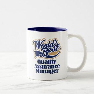 Quality Assurance Manager Gift Two-Tone Coffee Mug