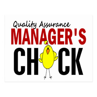 QUALITY ASSURANCE MANAGER'S CHICK POSTCARD