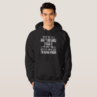 QUALITY ASSURANCE SPECIALIST HOODIE