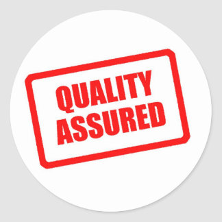 Quality Assured Classic Round Sticker