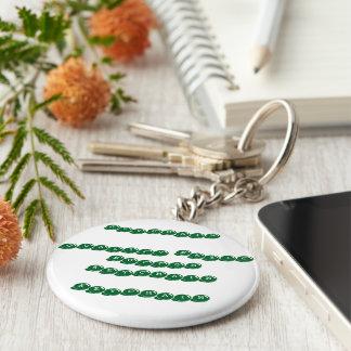 Quality basic button keychain