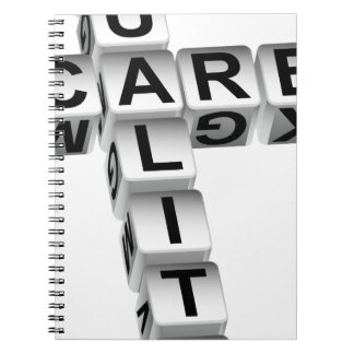 Quality Care Dice Crossword Puzzle Notebook