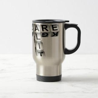 Quality Care Dice Crossword Puzzle Travel Mug