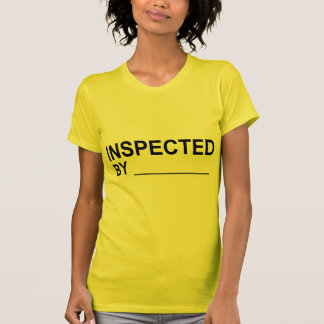 Quality Control INSPECTED BY Label Tee Shirt