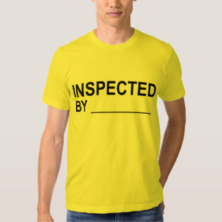 Quality Control INSPECTED BY Label Tee Shirts