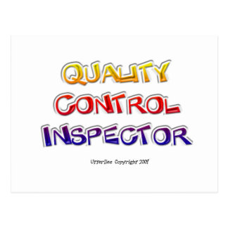 Quality  Control Inspector Postcard