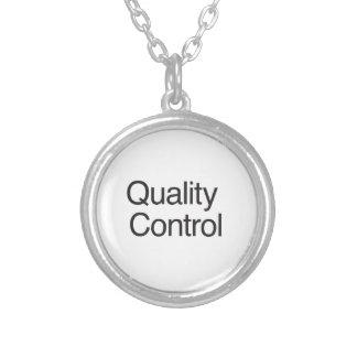 Quality Control Round Pendant Necklace