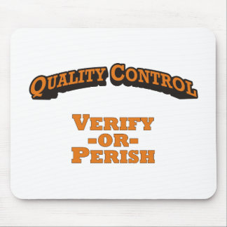 Quality Control / Verify Mouse Pad