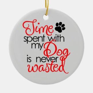 Quality Dog Time Ceramic Ornament