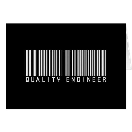 Quality Engineer Bar Code Greeting Card