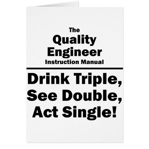 quality engineer stationery note card