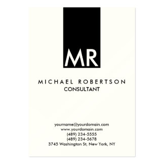 Quality Indestructible Special Monogram Unique Large Business Cards (Pack Of 100)