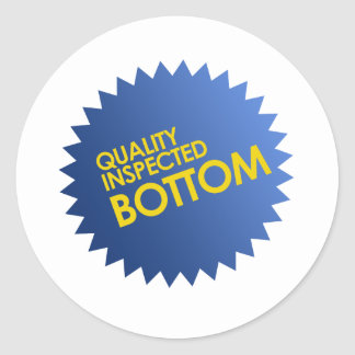 Quality Inspected Bottom Classic Round Sticker