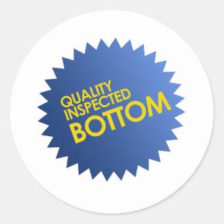 Quality Inspected Bottom Sticker