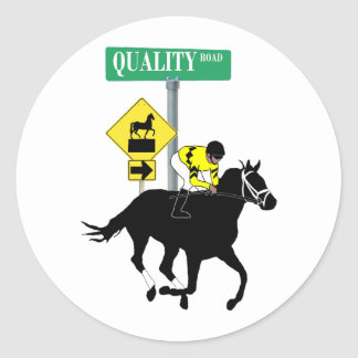 Quality Road Classic Round Sticker