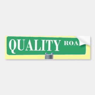 QUALITY ROAD SIGN CAR BUMPER STICKER