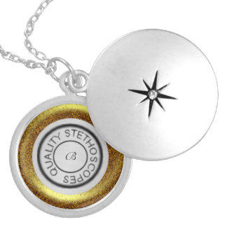 Quality Stethoscope Gold Silver Plated Necklace