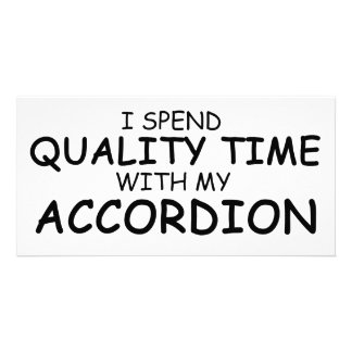 Quality Time Accordion Custom Photo Card