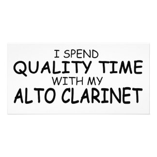 Quality Time Alto Clarinet Personalized Photo Card