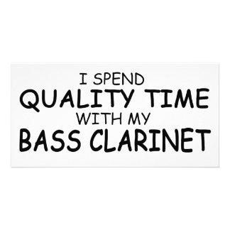Quality Time Bass Clarinet Custom Photo Card