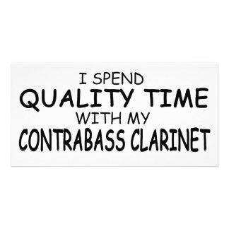 Quality Time Contrabass Clarinet Photo Card Template