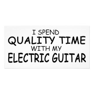 Quality Time Electric Guitar Custom Photo Card
