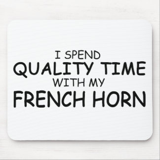 Quality Time French Horn Mouse Pads
