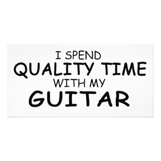 Quality Time Guitar Customized Photo Card
