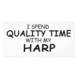 Quality Time Harp Photo Card