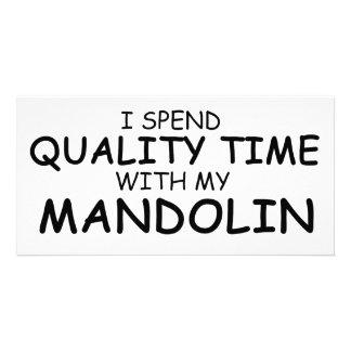 Quality Time Mandolin Customized Photo Card