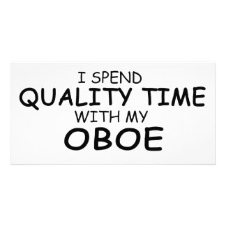 Quality Time Oboe Custom Photo Card