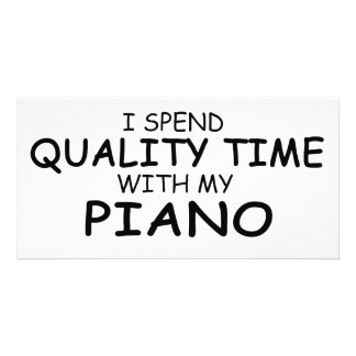 Quality Time Piano Personalized Photo Card