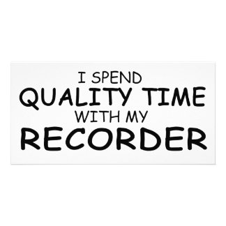 Quality Time Recorder Picture Card