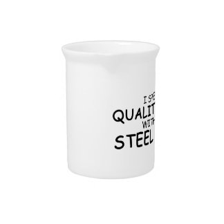 Quality Time Steel Drum Beverage Pitchers